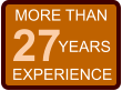 MORE THAN 27 EXPERIENCE YEARS
